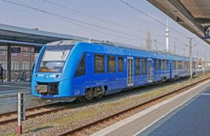 Hydrogen powered train illustrates the start of hydrogen in transport.