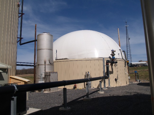 Image showing biogas plant storage (gas holder).