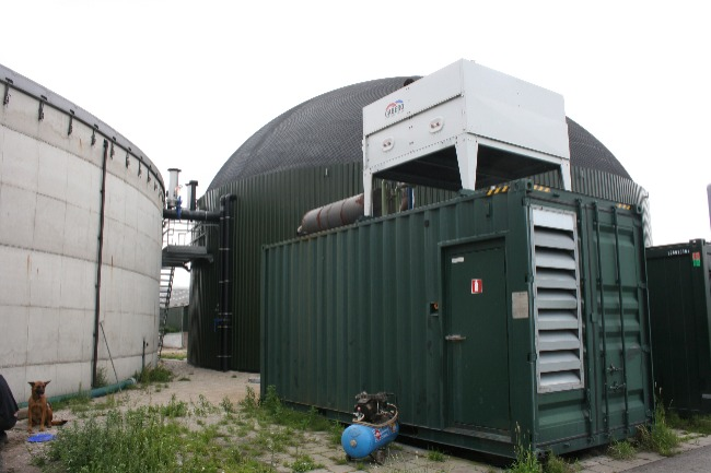 A view of an agricultural biogas plant.