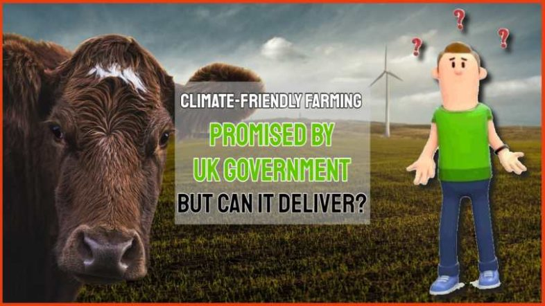 "Text asks about ""Climate friendly farming""."